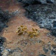 náušnice vavřín (zlato)